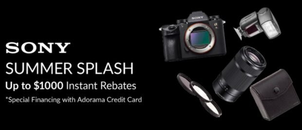 Up to $1,000 Off Sony Instant Rebates: Sony A7r III for $2,498 and Sony A7 II for $898 !!!